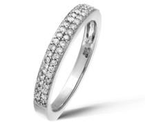 Damen-Ring 18 K Weißgold Diamant 0,81 ct