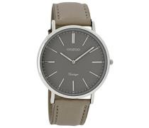Damen Armbanduhr Analog Quarz Leder C7331