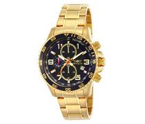 14878 Specialty Uhr Edelstahl Quarz schwarzen Zifferblat