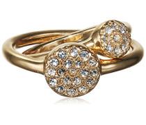 Ring Ambience Vergoldet teilvergoldet Kristall Transparent Rundschliff