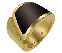 Ring Match Edelstahl rhodiniert Kunststoff -