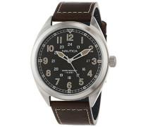 Analog Quarz Uhr mit Leder Armband NAPBTP001