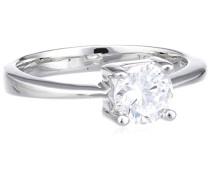 Damen-Ring mit Zirkonia weiß