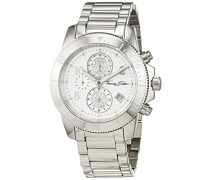 Damen-Armbanduhr Glam Chrono Silber Analog Quarz
