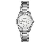 Multi Zifferblatt Quarz Uhr mit Edelstahl Armband MG 006S-FM