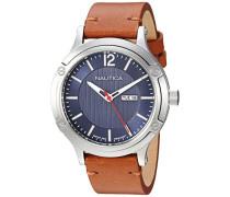 Analog Quarz Uhr mit Leder Armband NAPPRH020