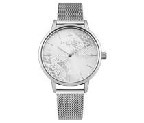 Datum klassisch Quarz Uhr mit Edelstahl Armband DD051SM