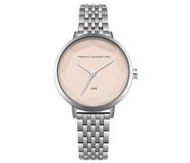 Datum klassisch Quarz Uhr mit Edelstahl Armband FC1317SM