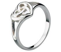 Fingerring Keltisches Herz Sterling-Silber Größe R