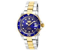 17042 Pro Diver Uhr Edelstahl Automatik blauen Zifferblat