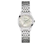 Diamond 96S160 - Designer-Armbanduhr - Edelstahl - Perlmutt-Zifferblatt