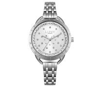 Datum klassisch Quarz Uhr mit Aluminium Armband LP553