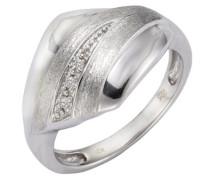 Ring 925 Sterling Silber 5x Diamanten 0.05 ct.