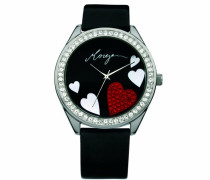 Damen-Armbanduhr Analog schwarz M1072B
