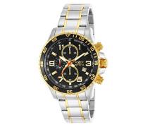 Chronograph Quarz Uhr mit Edelstahl Armband 14876