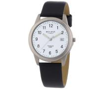 Herren-Armbanduhr XL Analog Quarz Leder 11190095