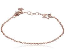 love Armband We Love: Luck Infinity & Stars 925 Silber rose vergoldet Spinell schwarz - C7106B/90/L6/15+3