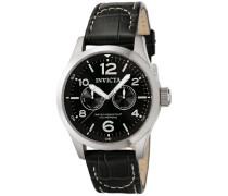 0764 I-Force Uhr Edelstahl Quarz schwarzen Zifferblat
