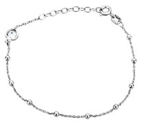 Armband 925 Sterling Silber Armband mit Herzen 925 Silber 20 cm - MSF018B