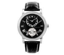 Armbanduhr Automatik Analog Leder Schwarz - B15H2