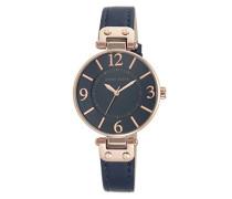 Datum klassisch Quarz Uhr mit Leder Armband 10/N9168RGNV