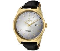 11739 Vintage Uhr Edelstahl Quarz weißen Zifferblat