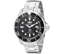 3044 Pro Diver Uhr Edelstahl Automatik schwarzen Zifferblat