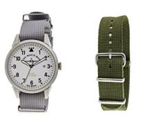 Zeno Datum klassisch Quarz Uhr mit Stoff Armband ZE5231-6