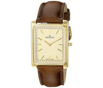 Analog Quarz Uhr mit Leder Armband 1040.1511