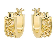 Damen-Creolen Kristall gold 1 cm - 5273880