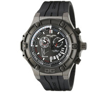 Armbanduhr XL Clint Dem sey Limited Edition Game Timer Chronograph Leder JG2500-22