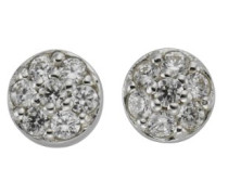 Basic Ohrstecker 925 Sterling Silber rhodiniert Zirkonia weiß 358220085