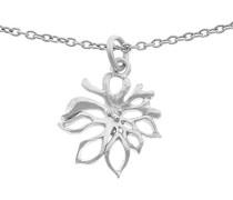 Damen Halskette Silber vergoldet Zirkonia weiß