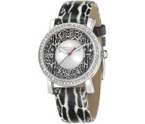 Damen-Armbanduhr Analog Quarz Leder R7251595503