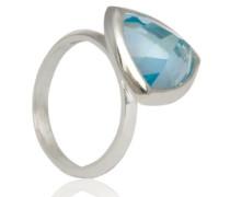 D for Diamond Ring Sterling-Silber 925 Blautopas 54 (17.2) KRW001B SZ7