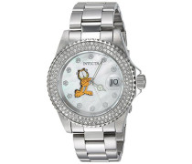 24868 Character - Garfield Uhr Edelstahl Quarz weißen Zifferblat