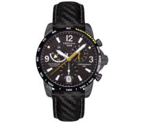Armbanduhr XL Chronograph Quarz Leder C001.639.16.057.01