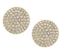 Ohrringe 9 Karat 375 Gelbgold Rundschliff weiß Diamant DE1637Y