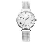Analog Quarz Uhr mit massives Edelstahl Armband 089J628