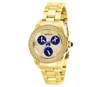 28478 Angel Uhr Edelstahl Quarz goldenen Zifferblat