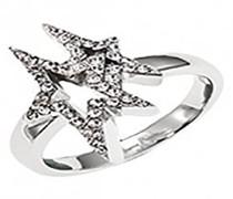 Ring, Edelstahl, Zirkonoxid, 56 (17.8)