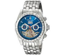 Armbanduhr für mit Analog Anzeige, Automatik-Uhr mit Edelstahl Armband - Wasserdichte Herrenuhr mit zeitlosem