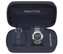 Analog Quarz Uhr mit Edelstahl Armband NAPPRH010