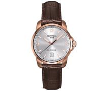 Armbanduhr XL Analog Quarz Leder C001.410.36.037.01