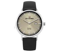 Herren Analog Quarz Uhr mit Leder Armband WBS101B