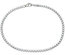 Tennisarmband Silber Kristall Weiß 19 cm SBT1556W E