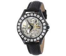 Armbanduhr für mit Analog Anzeige, Automatik-Uhr und Lederarmband - Wasserdichte Damenuhr mit zeitlosem, schickem Design - klassische
