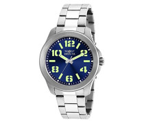 21443 Specialty Uhr Edelstahl Quarz blauen Zifferblat