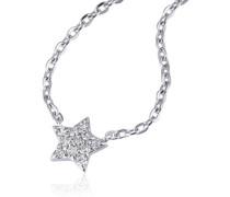 Coller 14 Karat (585) Weißgold Starshine 11 Diamanten SI/H 0