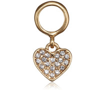 Anhänger Charming Vergoldet teilvergoldet Kristall Transparent Herzschliff - 471612010
